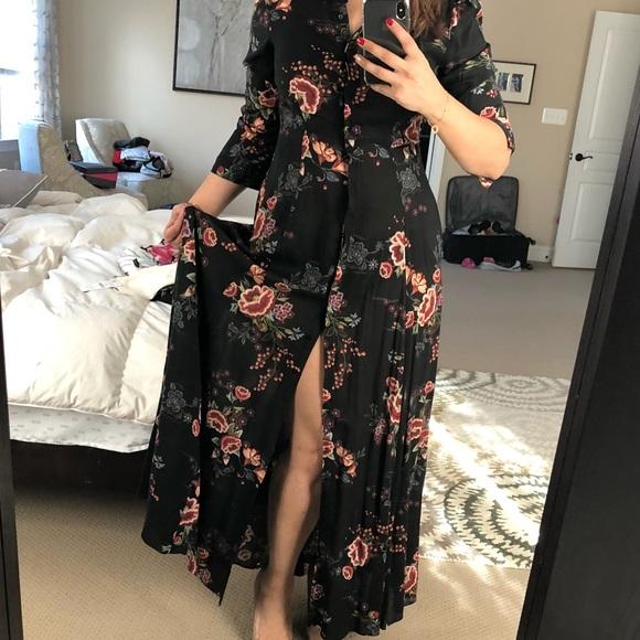 21c1b8b96b Zara floral maxi dress/duster